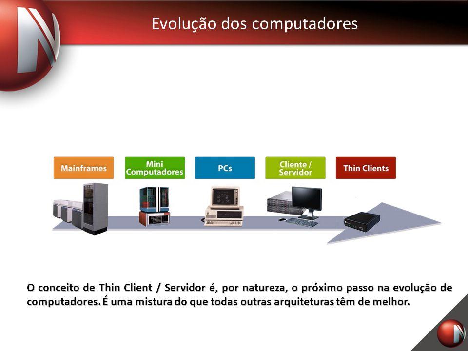 Evolução dos computadores O conceito de Thin Client / Servidor é, por natureza, o próximo passo na evolução de computadores.