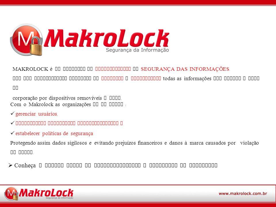 MAKROLOCK é um software de GERENCIAMENTO da SEGURAN Ç A DAS INFORMA ÇÕ ES.