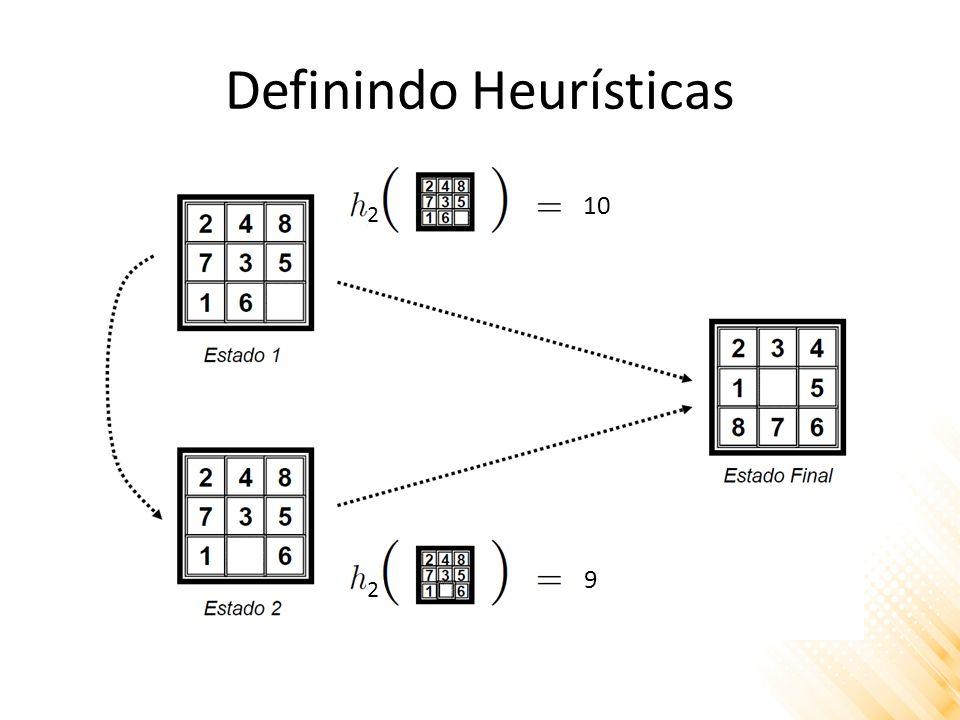 Definindo Heurísticas 2 2 10 9