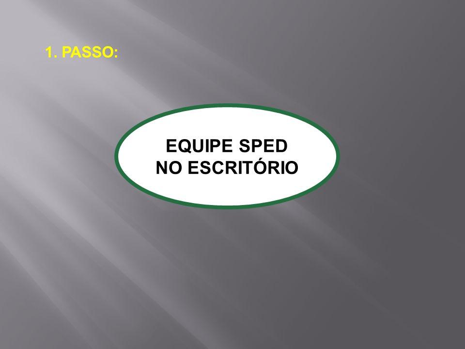 1. PASSO: EQUIPE SPED NO ESCRITÓRIO
