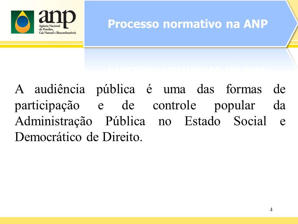 4 A audiência pública é uma das formas de participação e de controle popular da Administração Pública no Estado Social e Democrático de Direito.