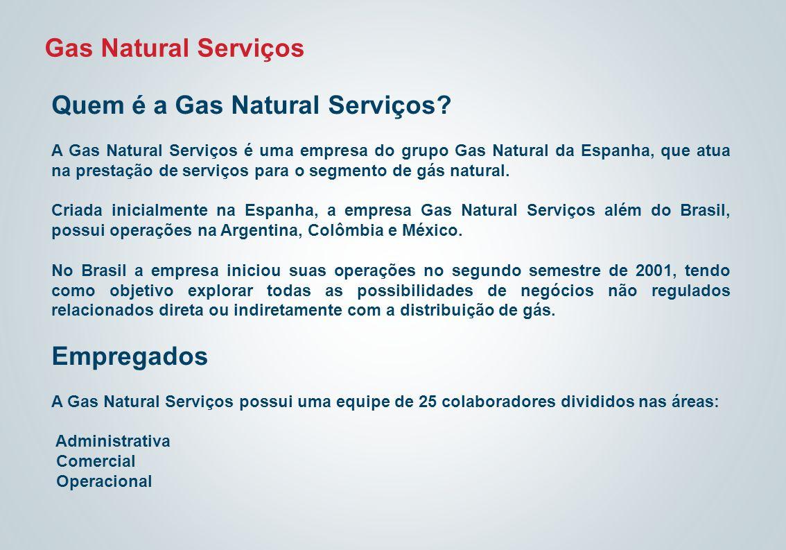 Gas Natural Serviços Quem é a Gas Natural Serviços? A Gas Natural Serviços é uma empresa do grupo Gas Natural da Espanha, que atua na prestação de ser