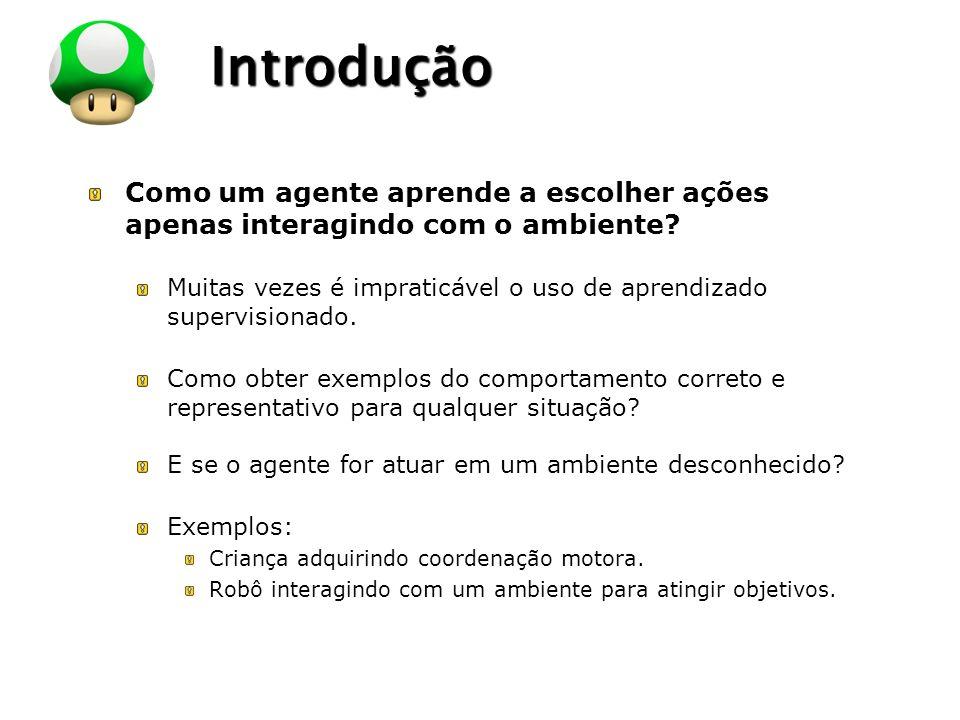 LOGO Exemplos de Problemas ProblemaEstadosAçõesRecompensas Agente jogador de damas.