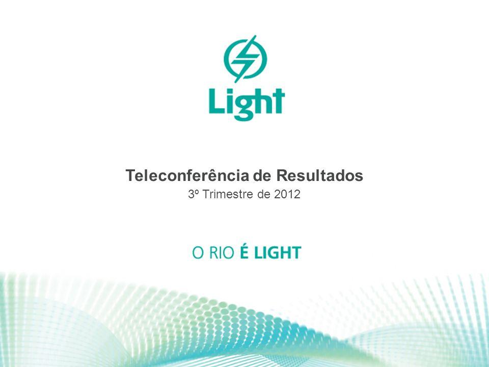 1 Teleconferência de Resultados 3º Trimestre de 2012