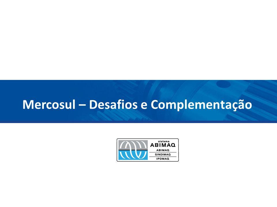 Estrutura América Latina – desafio da desindustrialização O inimigo comum na Argentina O comércio no Mercosul Panorama para o setor de bens de capital mecânicos no Mercosul – Comércio Exterior Complementação produtiva
