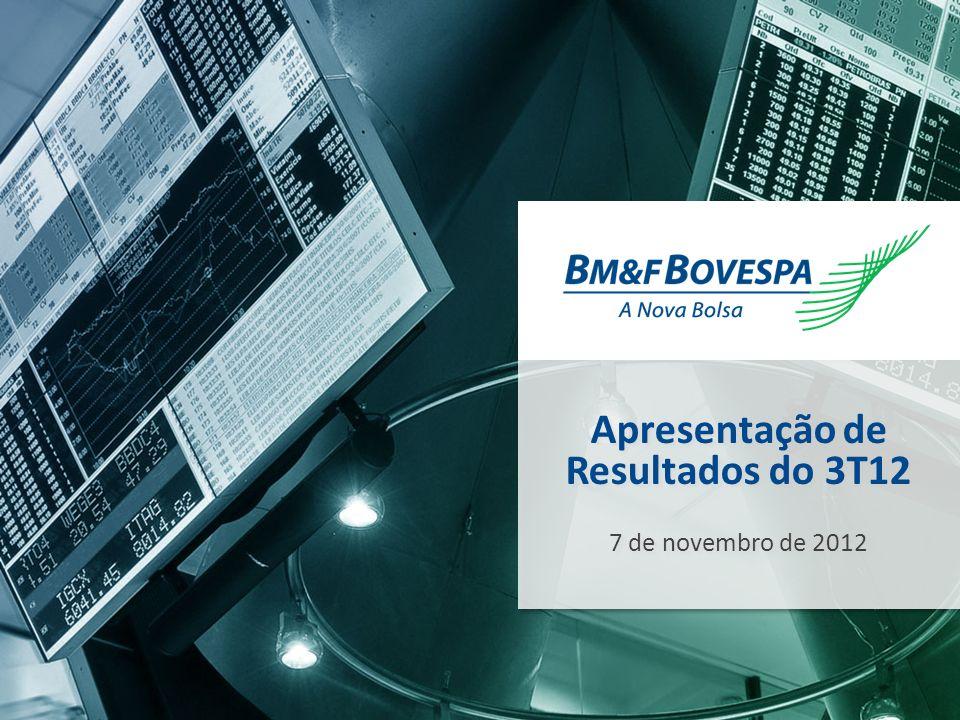 1 1 Apresentação de Resultados do 3T12 7 de novembro de 2012 Apresentação de Resultados do 3T12 7 de novembro de 2012