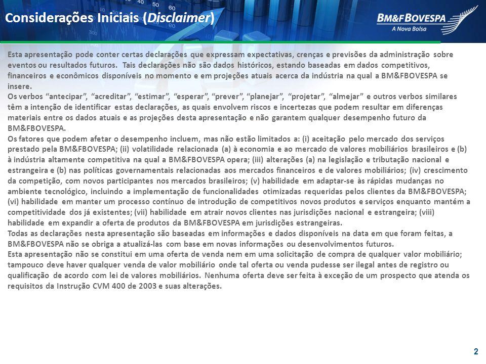 Integração das Clearings Fortalecimento da posição de mercado e redução de custos DERIVATIVOS FINANCEIROS E COMMODITIES AÇÕES, DERIVATIVOS DE AÇÕES E EMPRÉSTIMO DE AÇÕES RENDA FIXA CÂMBIO SPOT EFICIÊNCIA OPERACIONAL SISTEMAS INTEGRADOS EFICIÊNCIA NA LIQUIDAÇÃO REDUÇÃO DOS VALORES A PAGAR VIA MAIOR PODER DE NETTING EFICIÊNCIA NA ADMINISTRAÇÃO DE RISCO REDUÇÃO NA ALOCAÇÃO DE CAPITAL A integração dos sistemas de administração de risco, colaterais e compensação simplificará as operações e gerará eficiência A nova arquitetura CORE beneficiará os participantes que concentrarem suas transações na BVMF, fortalecendo nossa posição competitiva 13