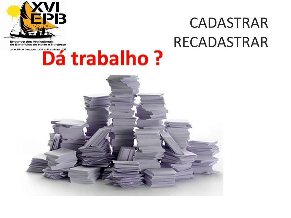 CADASTRAR RECADASTRAR