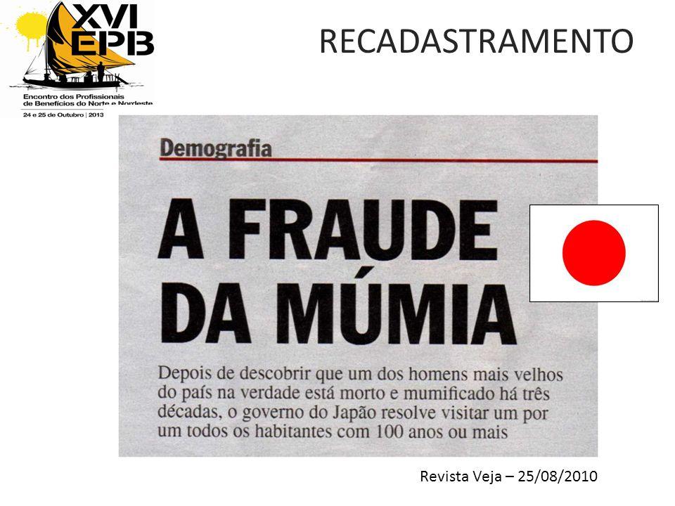 RECADASTRAMENTO Revista Veja – 25/08/2010