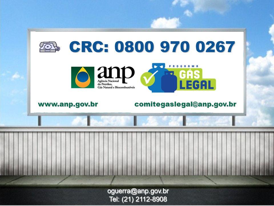 11 CRC: 0800 970 0267 www.anp.gov.br oguerra@anp.gov.br Tel: (21) 2112-8908 comitegaslegal@anp.gov.br
