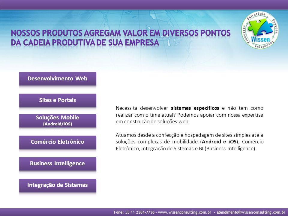 Fone: 55 11 2384-7736 - www.wissenconsulting.com.br - atendimento@wissenconsulting.com.br Cuide do seu negócio, que da TI nós cuidamos.