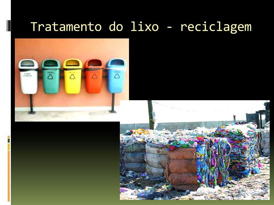 Tratamento do lixo - reciclagem