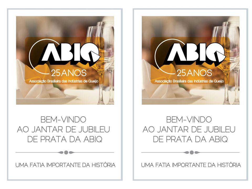 ABIQ Associação Brasileira das Indústrias de Queijo 25 Anos 15 de março de 1988 15 de março de 2013 Desde o início, o trabalho voluntário de queijeiros da época e de novos queijeiros vem fazendo a sua história.