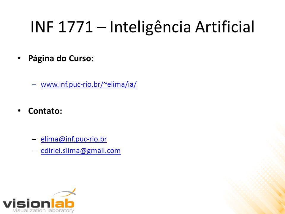 INF 1771 – Inteligência Artificial Página do Curso: – www.inf.puc-rio.br/~elima/ia/ www.inf.puc-rio.br/~elima/ia/ Contato: – elima@inf.puc-rio.br elim