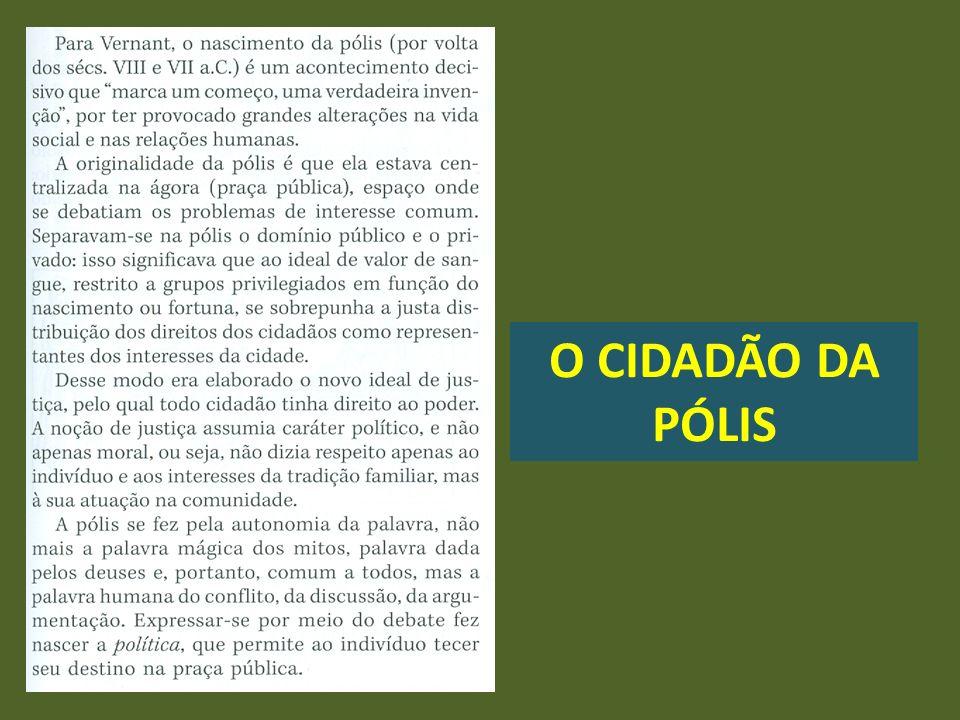 O CIDADÃO DA PÓLIS