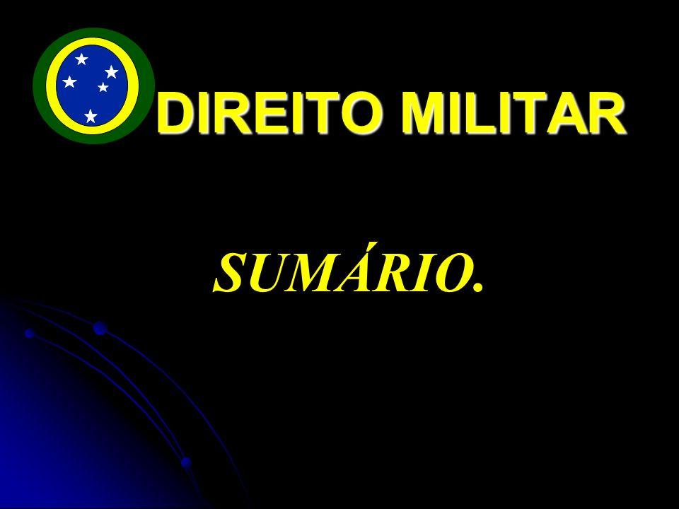 SUMÁRIO. DIREITO MILITAR