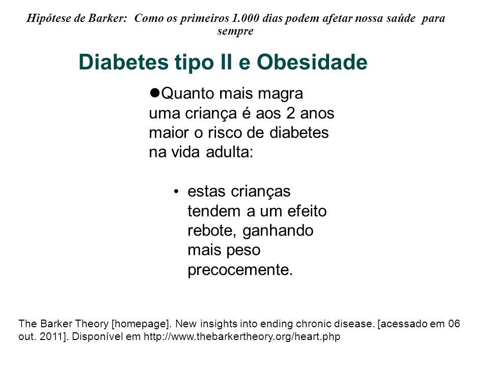 Hipótese de Barker: Como os primeiros 1.000 dias podem afetar nossa saúde para sempre The Barker Theory [homepage]. New insights into ending chronic d