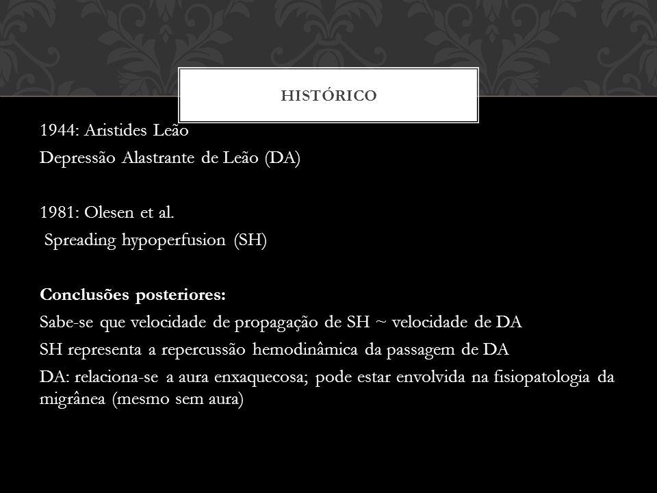 HISTÓRICO 1944: Aristides Leão Depressão Alastrante de Leão (DA) 1981: Olesen et al.