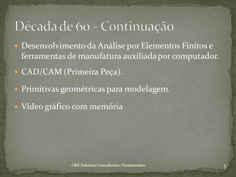 Desenvolvimento da Análise por Elementos Finitos e ferramentas de manufatura auxiliada por computador. CAD/CAM (Primeira Peça). Primitivas geométricas