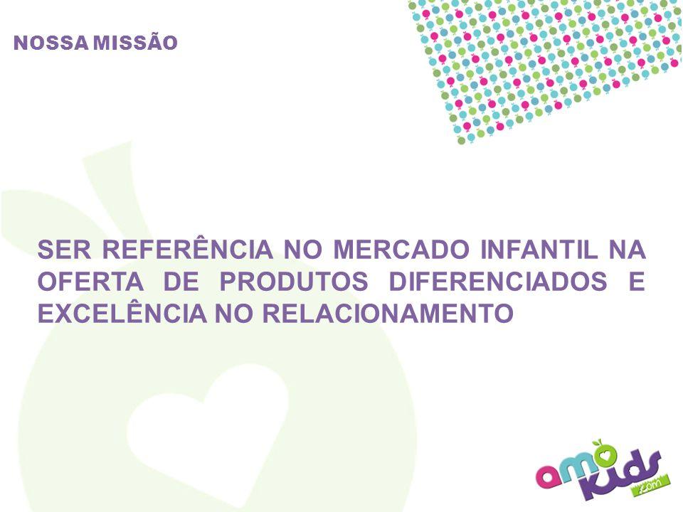 NOSSA MISSÃO SER REFERÊNCIA NO MERCADO INFANTIL NA OFERTA DE PRODUTOS DIFERENCIADOS E EXCELÊNCIA NO RELACIONAMENTO