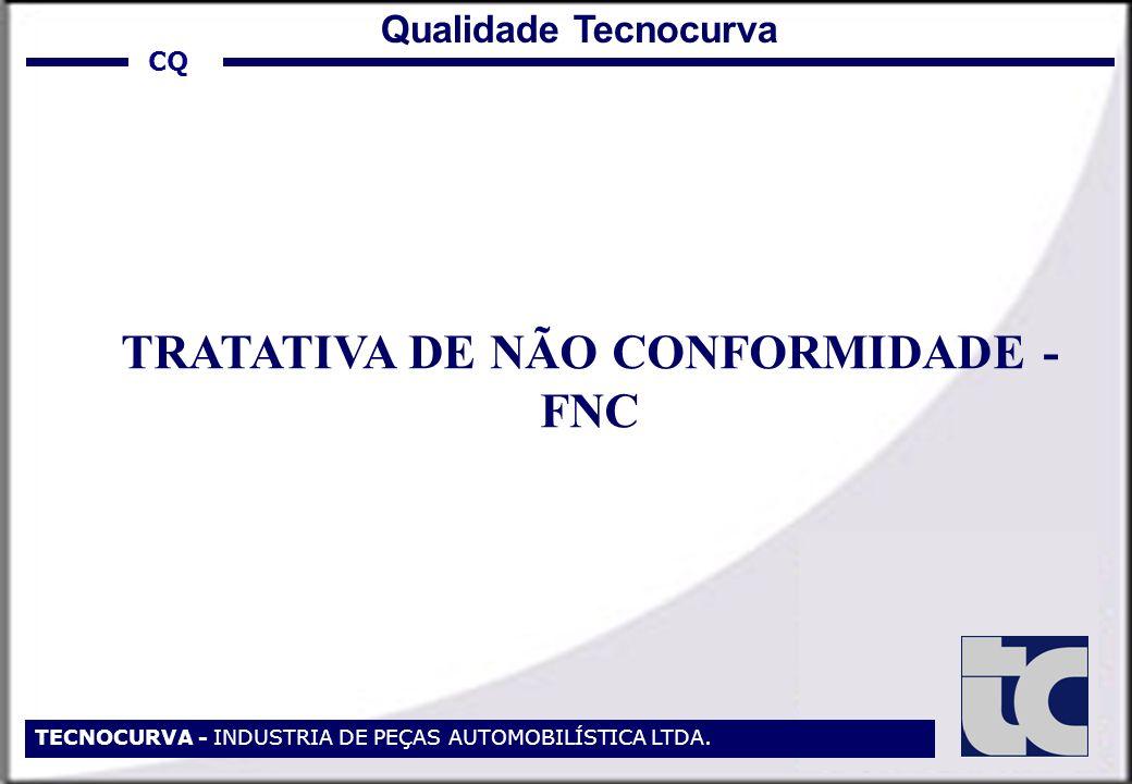 TECNOCURVA - INDUSTRIA DE PEÇAS AUTOMOBILÍSTICA LTDA. TRATATIVA DE NÃO CONFORMIDADE - FNC CQ Qualidade Tecnocurva