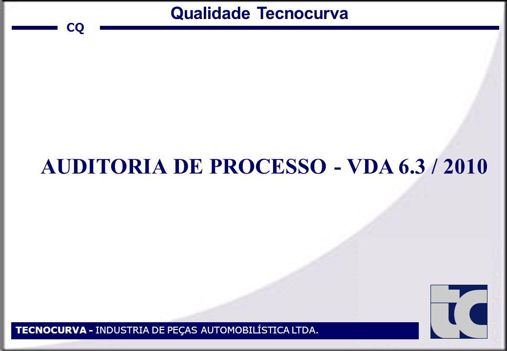 TECNOCURVA - INDUSTRIA DE PEÇAS AUTOMOBILÍSTICA LTDA. AUDITORIA DE PROCESSO - VDA 6.3 / 2010 CQ Qualidade Tecnocurva
