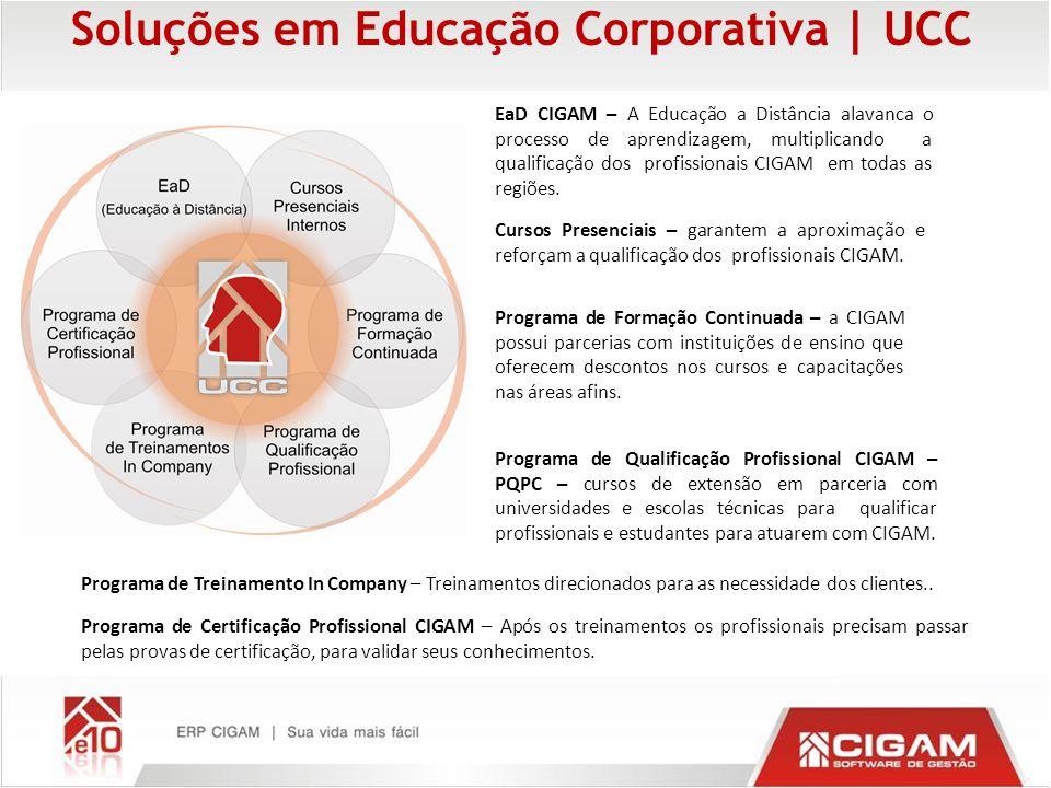 Soluções em Educação Corporativa   UCC EaD CIGAM – A Educação a Distância alavanca o processo de aprendizagem, multiplicando a qualificação dos profis