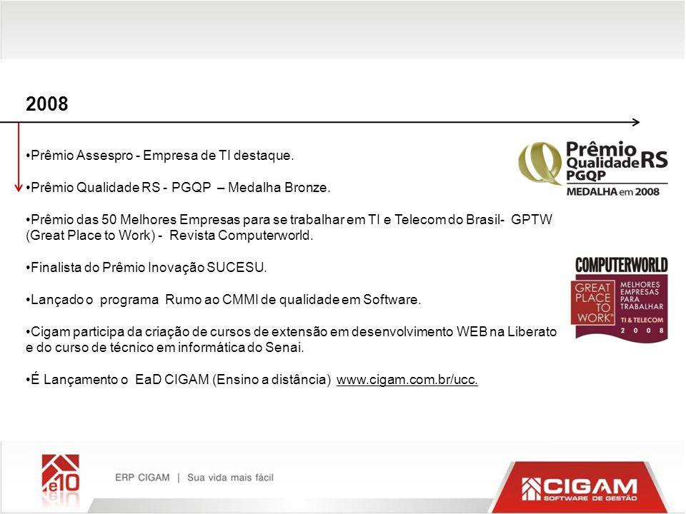 2008 Prêmio Assespro - Empresa de TI destaque. Prêmio Qualidade RS - PGQP – Medalha Bronze. Prêmio das 50 Melhores Empresas para se trabalhar em TI e