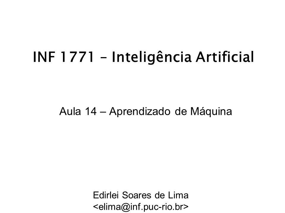 INF 1771 – Inteligência Artificial Aula 14 – Aprendizado de Máquina Edirlei Soares de Lima