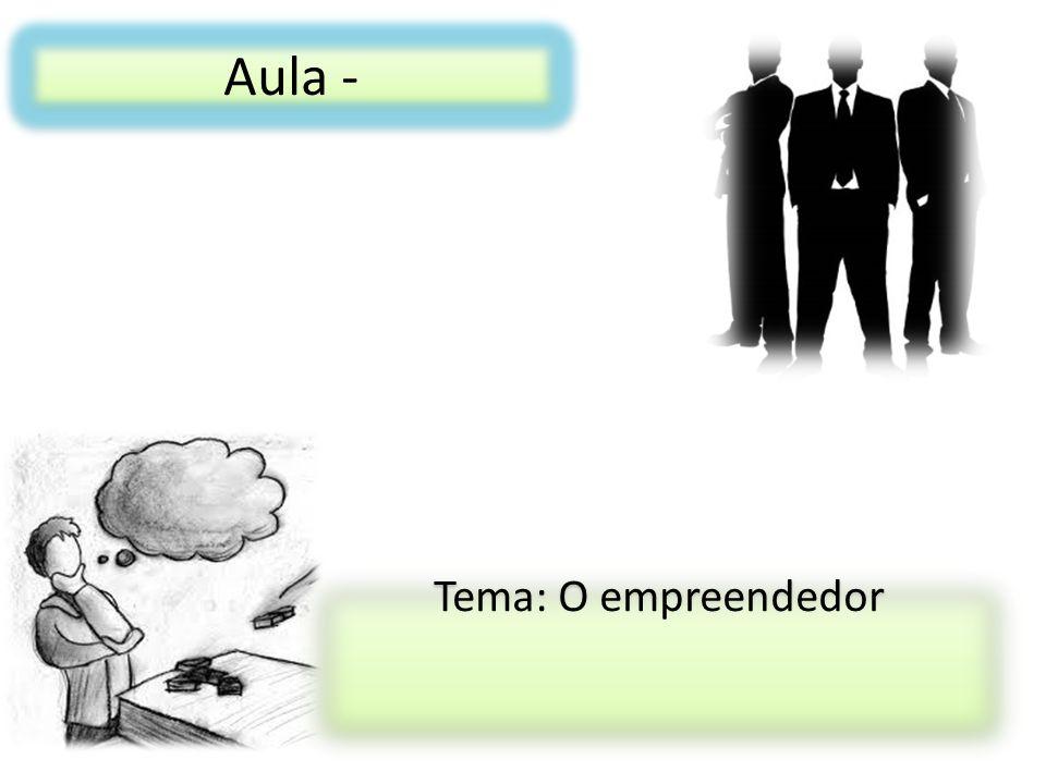 Características de um empreendedor Pessoa com a necessidade de realizar coisas novas e transformar oportunidade em lucros.