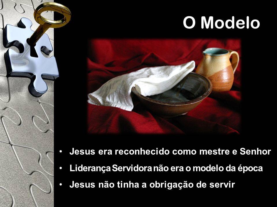 Jesus era reconhecido como mestre e Senhor Liderança Servidora não era o modelo da época Jesus não tinha a obrigação de servir O Modelo
