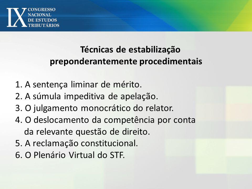 Técnicas de estabilização preponderantemente procedimentais 1.
