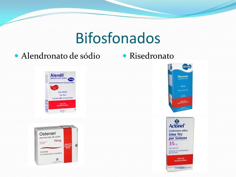 Bifosfonados Alendronato de sódio Risedronato