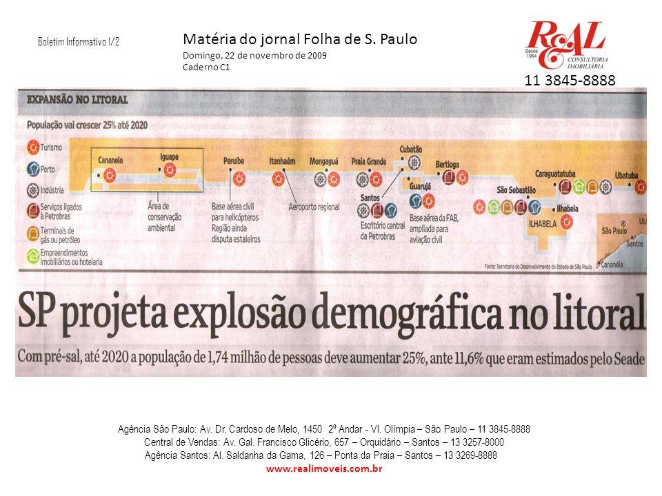 Boletim Informativo 1/2 Matéria do jornal Folha de S.