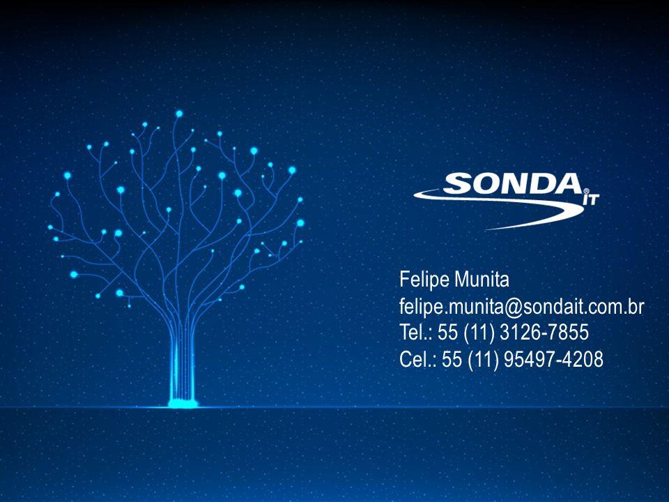 Felipe Munita felipe.munita@sondait.com.br Tel.: 55 (11) 3126-7855 Cel.: 55 (11) 95497-4208