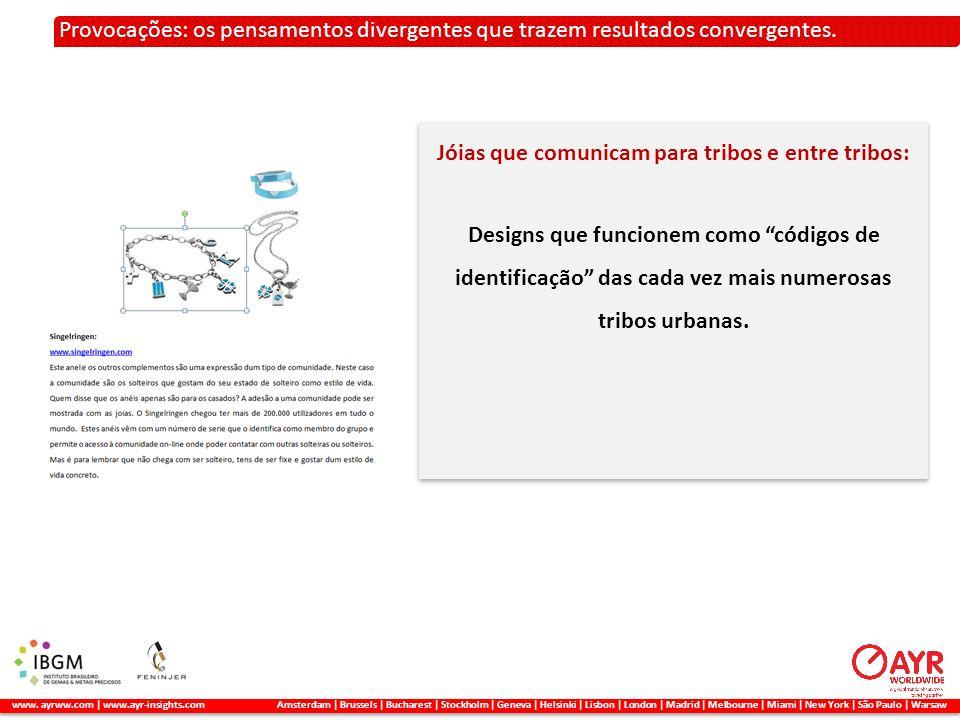 2. A METODOLOGIA APLICADA Provocações: os pensamentos divergentes que trazem resultados convergentes. www. ayrww.com | www.ayr-insights.com Amsterdam
