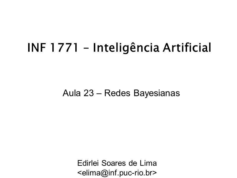 INF 1771 – Inteligência Artificial Aula 23 – Redes Bayesianas Edirlei Soares de Lima