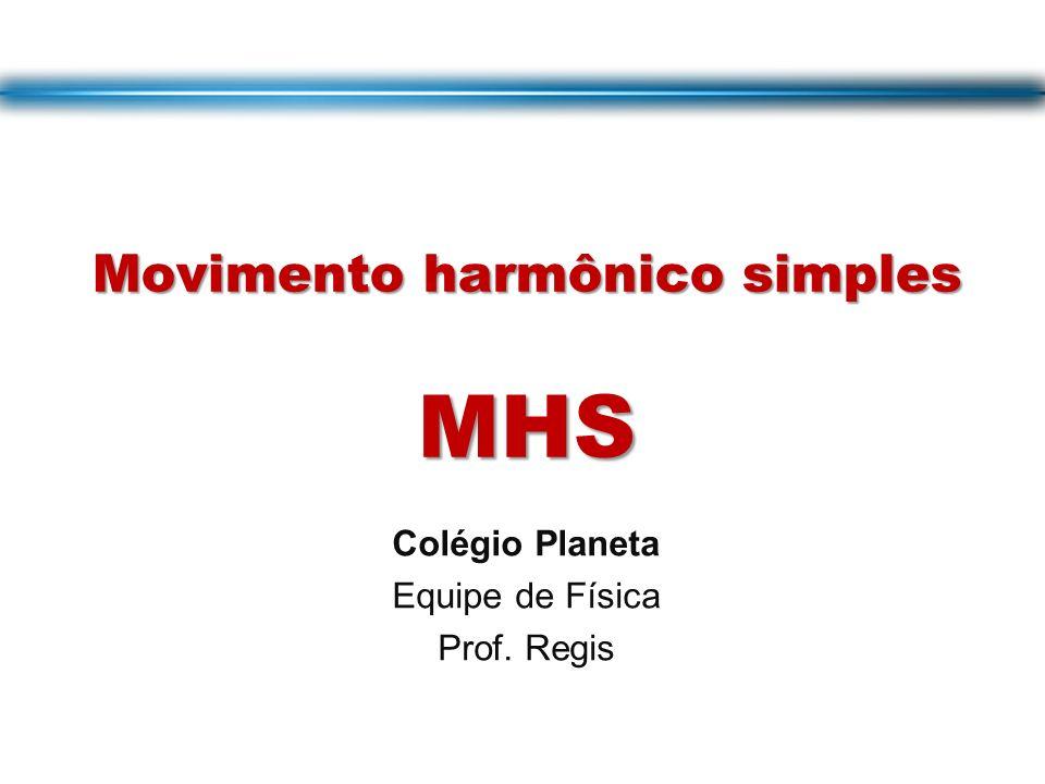Movimento harmônico simples MHS Colégio Planeta Equipe de Física Prof. Regis