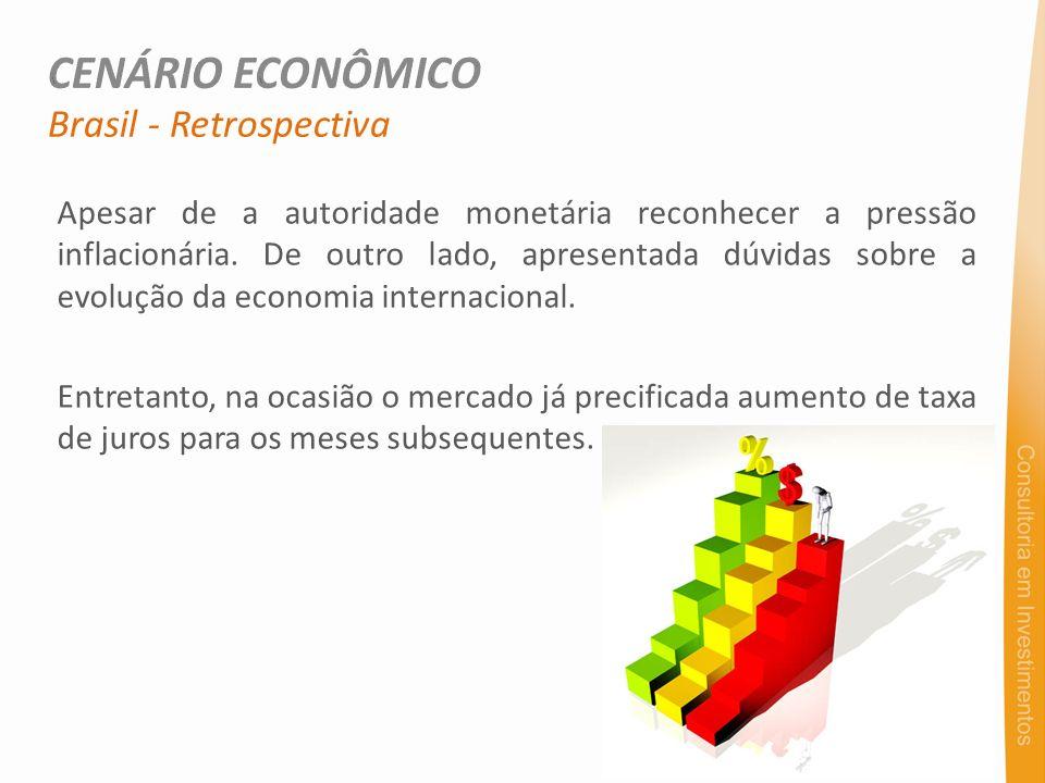 Apesar de a autoridade monetária reconhecer a pressão inflacionária. De outro lado, apresentada dúvidas sobre a evolução da economia internacional. En
