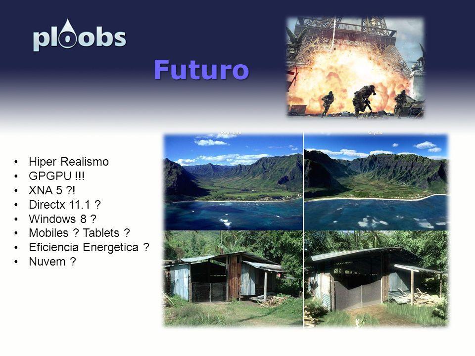 Page 40 Futuro Hiper Realismo GPGPU !!! XNA 5 ?! Directx 11.1 ? Windows 8 ? Mobiles ? Tablets ? Eficiencia Energetica ? Nuvem ?