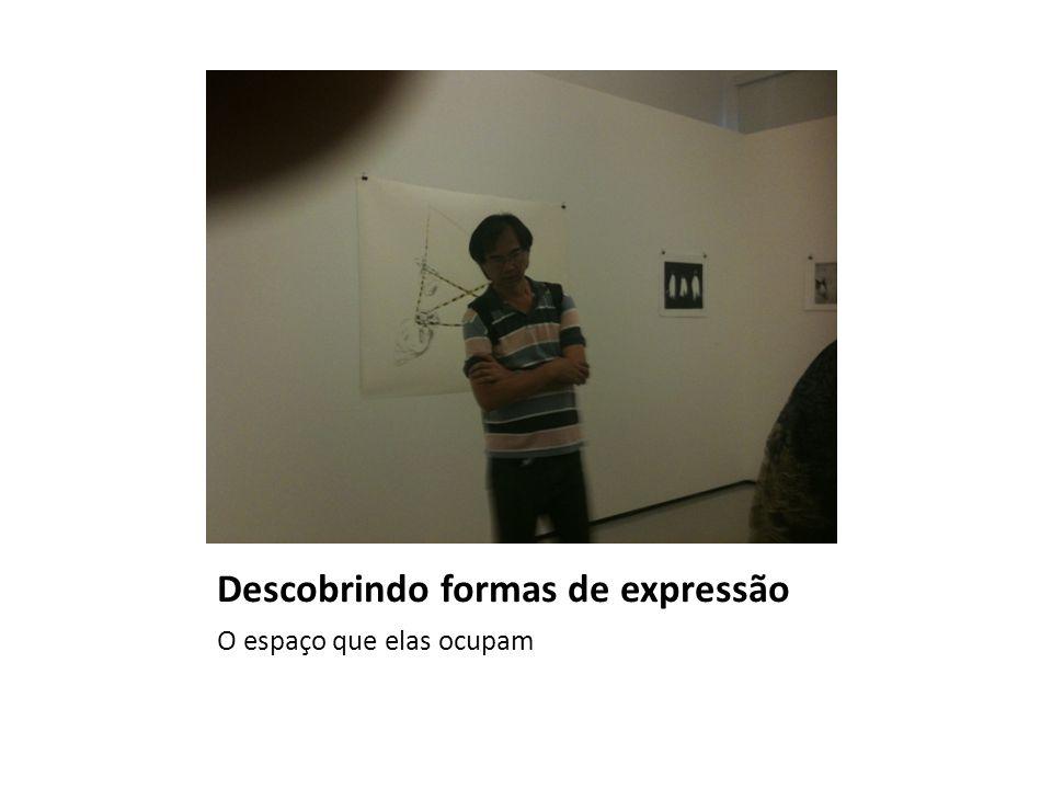 Descobrindo formas de expressão O espaço que elas ocupam