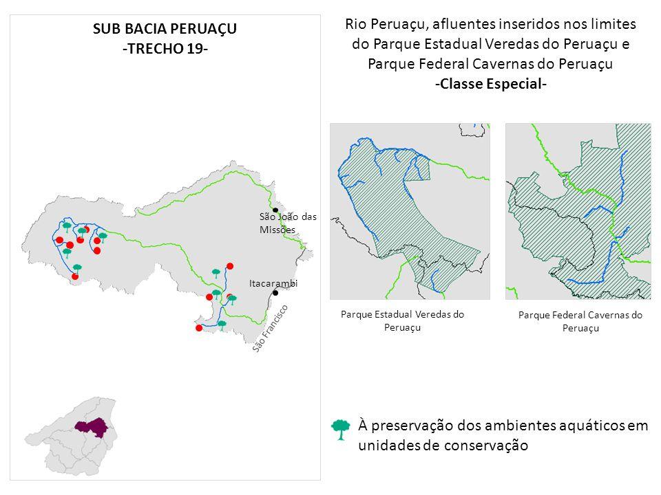Rio Peruaçu, afluentes inseridos nos limites do Parque Estadual Veredas do Peruaçu e Parque Federal Cavernas do Peruaçu -Classe Especial- Itacarambi S