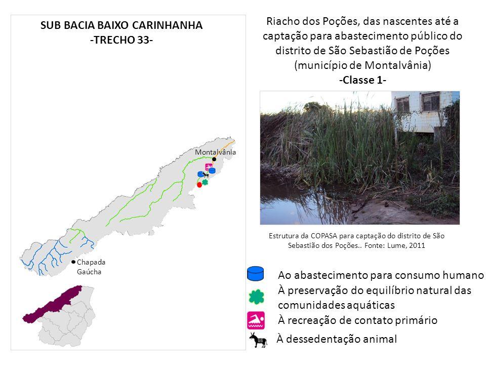 Riacho dos Poções, das nascentes até a captação para abastecimento público do distrito de São Sebastião de Poções (município de Montalvânia) -Classe 1