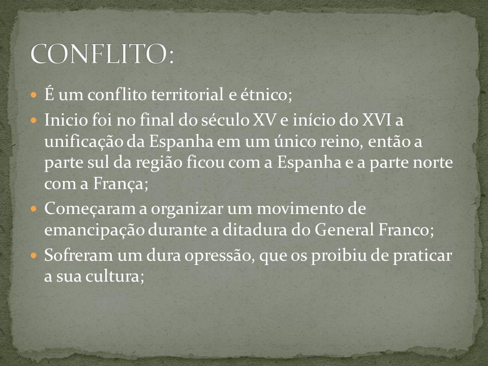 É um conflito territorial e étnico; Inicio foi no final do século XV e início do XVI a unificação da Espanha em um único reino, então a parte sul da r