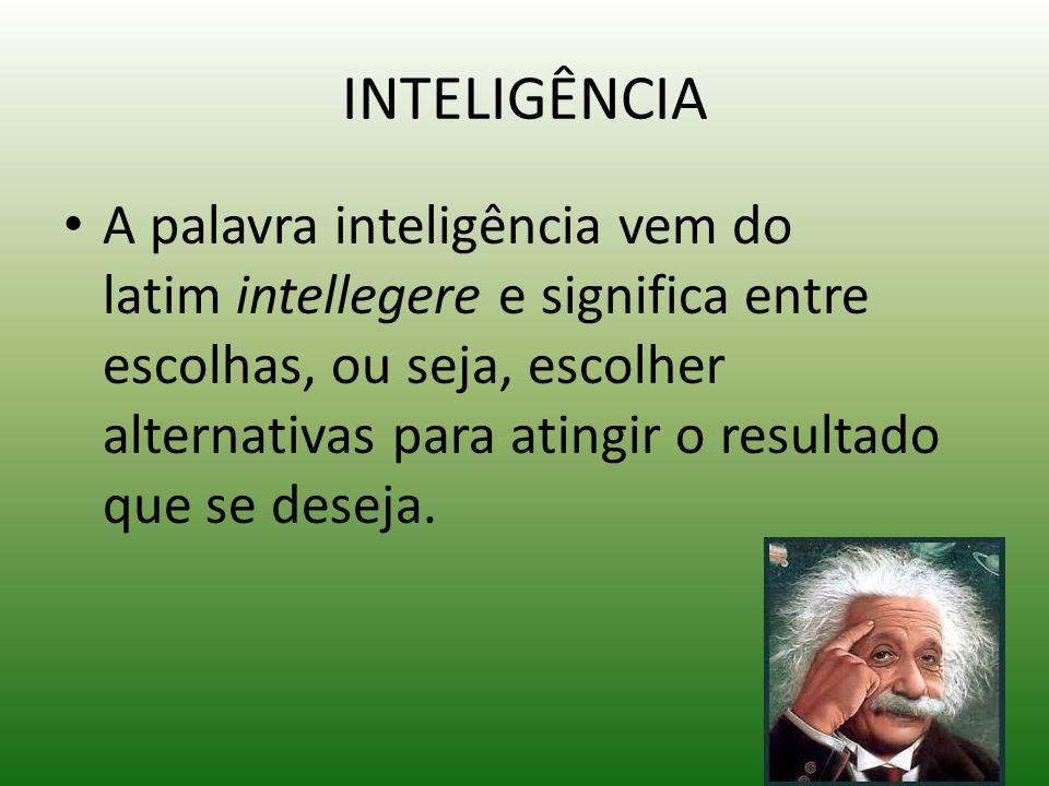INTELIGENCIA COMPORTAMENTAL Inteligência comportamental – não é relacionada com o nível de conhecimento, mas sim com o comportamento e a facilidade de se relacionar com os colegas.