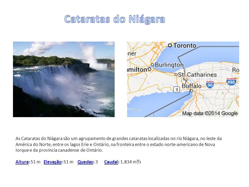 As Cataratas do Niágara são um agrupamento de grandes cataratas localizadas no rio Niágara, no leste da América do Norte, entre os lagos Erie e Ontári
