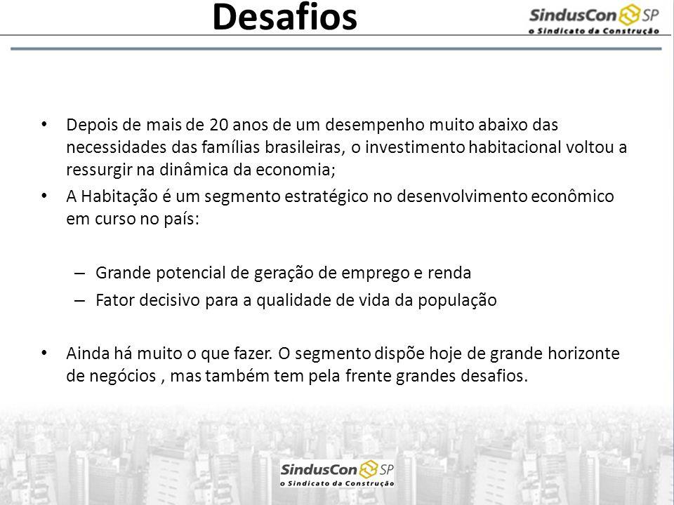 Depois de mais de 20 anos de um desempenho muito abaixo das necessidades das famílias brasileiras, o investimento habitacional voltou a ressurgir na d