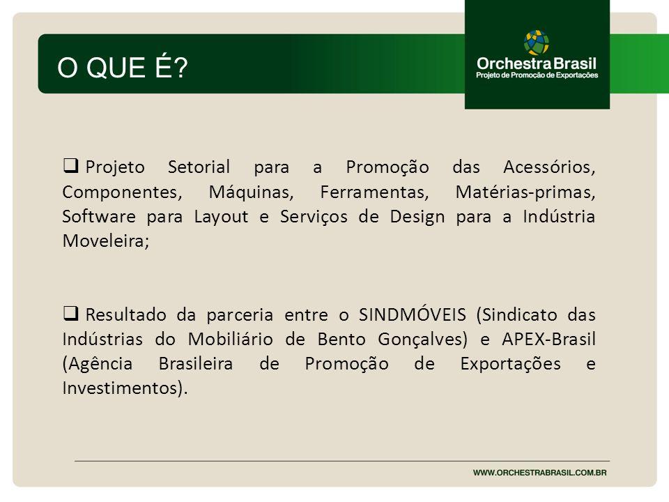 OBJETIVOS Promover o aumento das exportações das empresas; Fomentar a primeira exportação de empresas ainda não exportadoras; Proporcionar ações que ajudem a manutenção dos mercados e a continuidade das exportações;