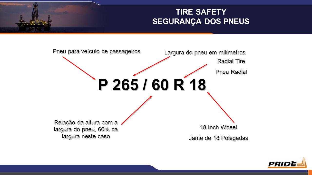 17 P 265 / 60 R 18 Pneu para veículo de passageiros Largura do pneu em milímetros Radial Tire Pneu Radial Radial Tire Pneu Radial Relação da altura co