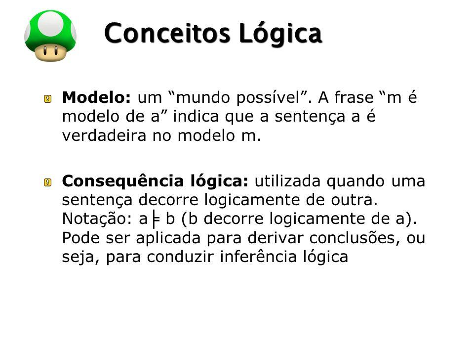 LOGO Conceitos Lógica Modelo: um mundo possível.